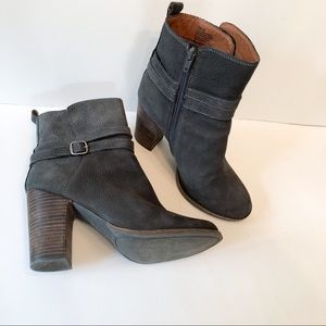 Lucky Latonya Ankle Boots Booties Size 8 Dark Gray